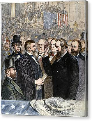 Hayes Inauguration Canvas Print by Granger