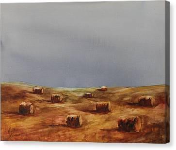 Hayfield Canvas Print by Ruth Kamenev