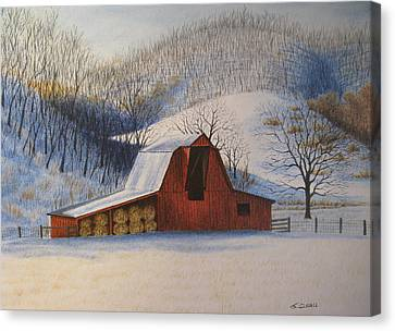 Hay's In Canvas Print by James Clewell