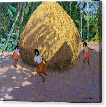 Haystack Canvas Print by Andrew Macara