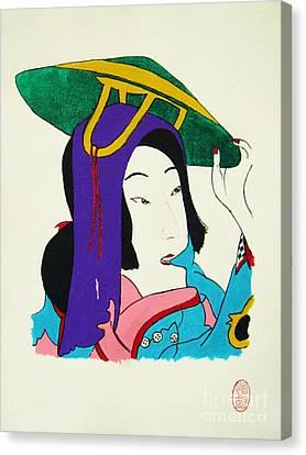 Hazukashigariya No Aisatsu Canvas Print by Roberto Prusso