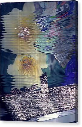 Hazy Reflections Canvas Print by Anne-Elizabeth Whiteway