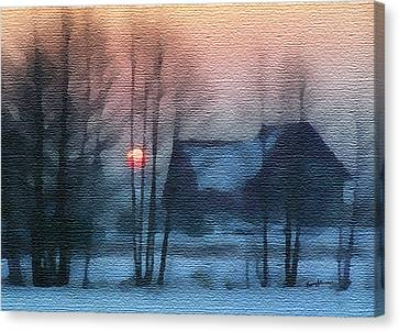 Hazy Winter Morning Canvas Print by Anthony Caruso