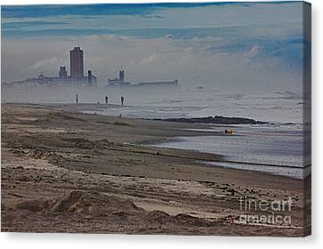 Hdr Beach Beaches Ocean Sea Seaview Waves Sandy Photos Pictures Photography Scenic Photograph Photo  Canvas Print by Pictures HDR