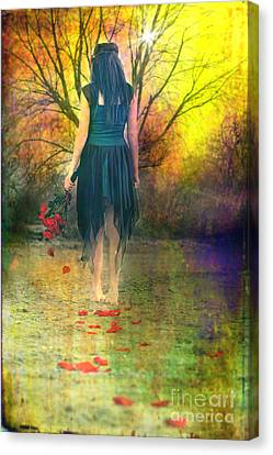 He Loves Me Not Canvas Print by Cindy Singleton