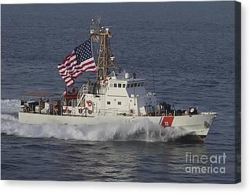 He U.s. Coast Guard Cutter Adak Canvas Print by Stocktrek Images