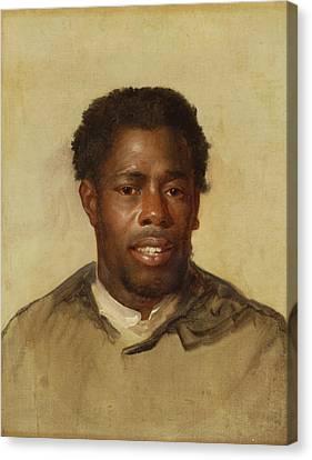Head Of A Man Canvas Print by John Singleton Copley