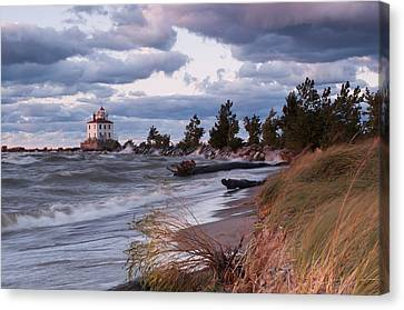 Headlands Beach Grasses Canvas Print by At Lands End Photography