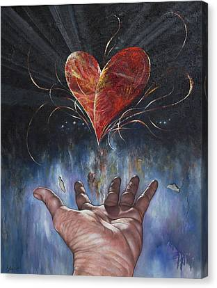 Heart And Soul Canvas Print by Jan Camerone