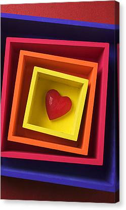 Heart In Boxes  Canvas Print by Garry Gay