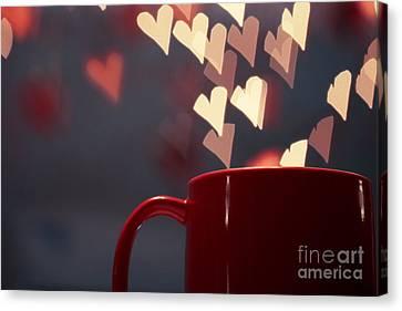 Heart In My Cup Of Coffee Canvas Print by Soultana Koleska