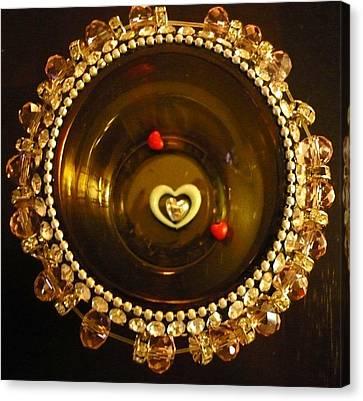 Heart Mandala Canvas Print by Debra Jacobson