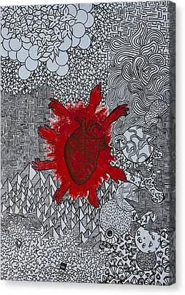 Heart Reaching Out Canvas Print by Peter Cagno