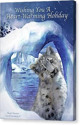 Heart Warmer Card Canvas Print by Carol Cavalaris
