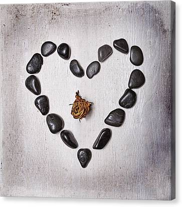 Heart With Rose Canvas Print by Joana Kruse