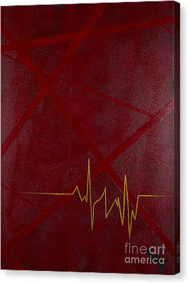 Heartbeat Dialect Canvas Print by Kelsey Hansen
