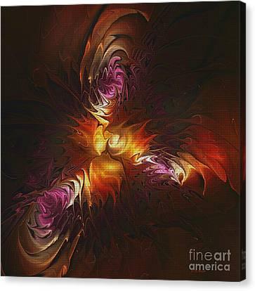 Heat Of Passion Canvas Print by Deborah Benoit