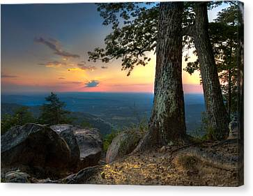 Heaven On Earth Canvas Print by Debra and Dave Vanderlaan