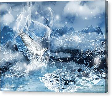 Heavenly Interlude Canvas Print by Lourry Legarde