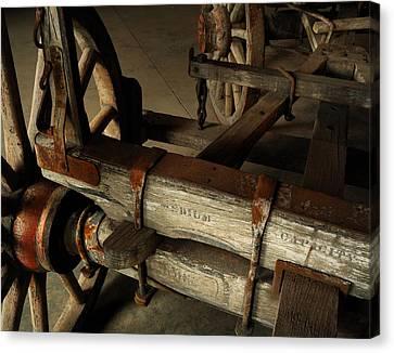 Heavy Hauler - Vintage Wagon Canvas Print by Steven Milner