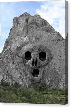 Heavy Rock Scream Canvas Print by Eric Kempson