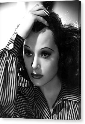 Hedy Lamarr, 1939, Photo By Clarence Canvas Print by Everett
