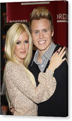 Heidi Montag, Spencer Pratt At In-store Canvas Print by Everett