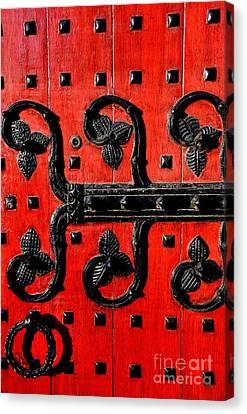 Heinz Chapel Door Detail Canvas Print by Thomas R Fletcher