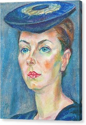 Helene Tedre Canvas Print by Leonid Petrushin