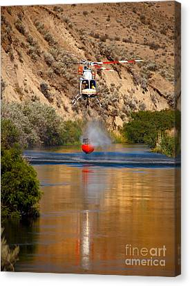 Helitack  Canvas Print by Robert Bales