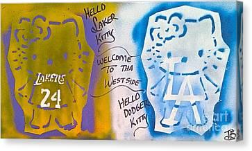 Hello La Kitty Canvas Print by Tony B Conscious