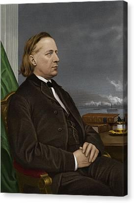 Henry Ward Beecher, Us Social Reformer Canvas Print by Maria Platt-evans