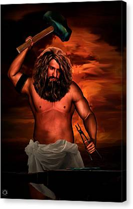 Hephaestus Canvas Print by Lourry Legarde