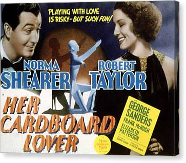 Her Cardboard Lover, Robert Taylor Canvas Print by Everett