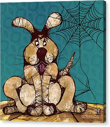 Her Woven Web Canvas Print by Laura Brightwood