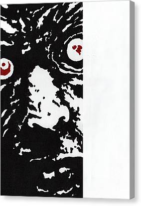 Here Is Zombie Canvas Print by Steve Benton