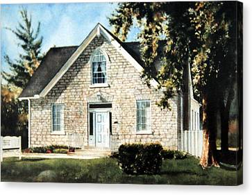 Heritage Home Portrait Canvas Print by Hanne Lore Koehler