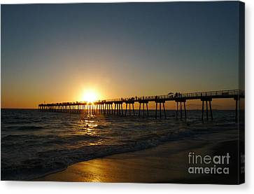 Hermosa Beach Sunset Canvas Print by Nina Prommer