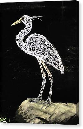 Heron Canvas Print by Tommy  Urbans