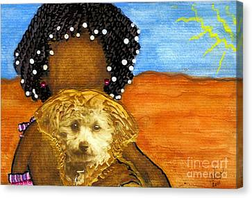 He's My Very Best Friend Canvas Print by Angela L Walker