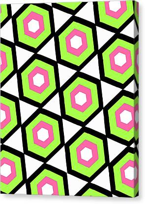Hexagon Canvas Print by Louisa Knight