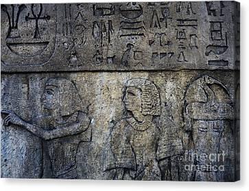 Hieroglyphs Canvas Print by Lee Dos Santos
