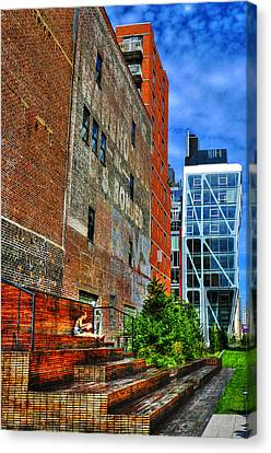High Line Park Scene Canvas Print by Randy Aveille