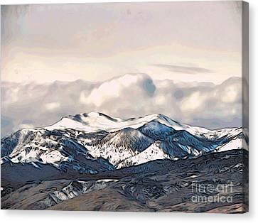 High Sierra Mountains Canvas Print by Phyllis Kaltenbach