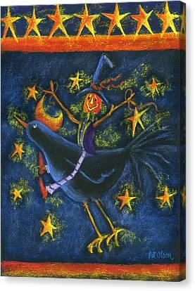 Hiho Mr. Crow Canvas Print by Pat Olson