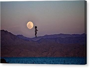 Hijo De La Luna Canvas Print by Jenn Bodro