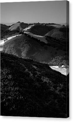 Hills Of Light And Darkness Canvas Print by Steven Ainsworth