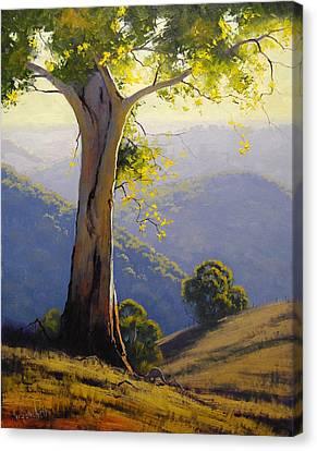 Hilly Landscape Canvas Print by Graham Gercken