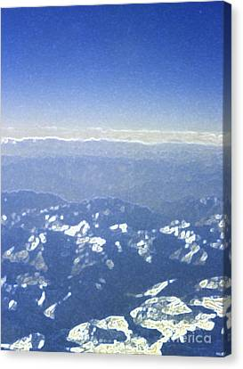 Himalayas Blue Canvas Print by First Star Art