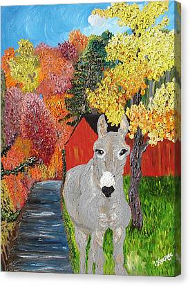 His Red Abode Canvas Print by Lisa Kramer